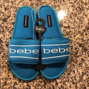 NWT Bebe logo slippers